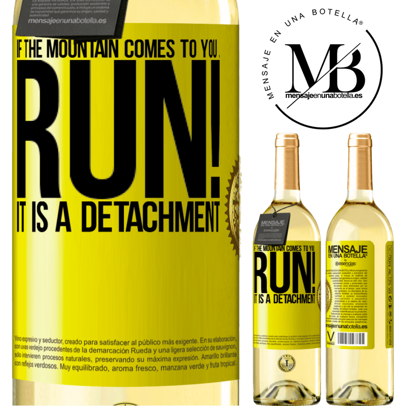 24,95 € Free Shipping   White Wine WHITE Edition If the mountain comes to you ... Run! It is a detachment Yellow Label. Customizable label Young wine Harvest 2020 Verdejo