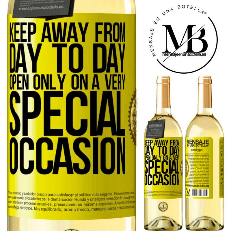 24,95 € Free Shipping | White Wine WHITE Edition Keep away from day to day. Open only on a very special occasion Yellow Label. Customizable label Young wine Harvest 2020 Verdejo