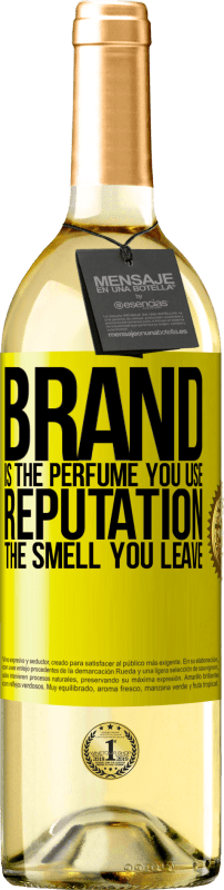24,95 € | White Wine WHITE Edition Brand is the perfume you use. Reputation, the smell you leave Yellow Label. Customizable label Young wine Harvest 2020 Verdejo