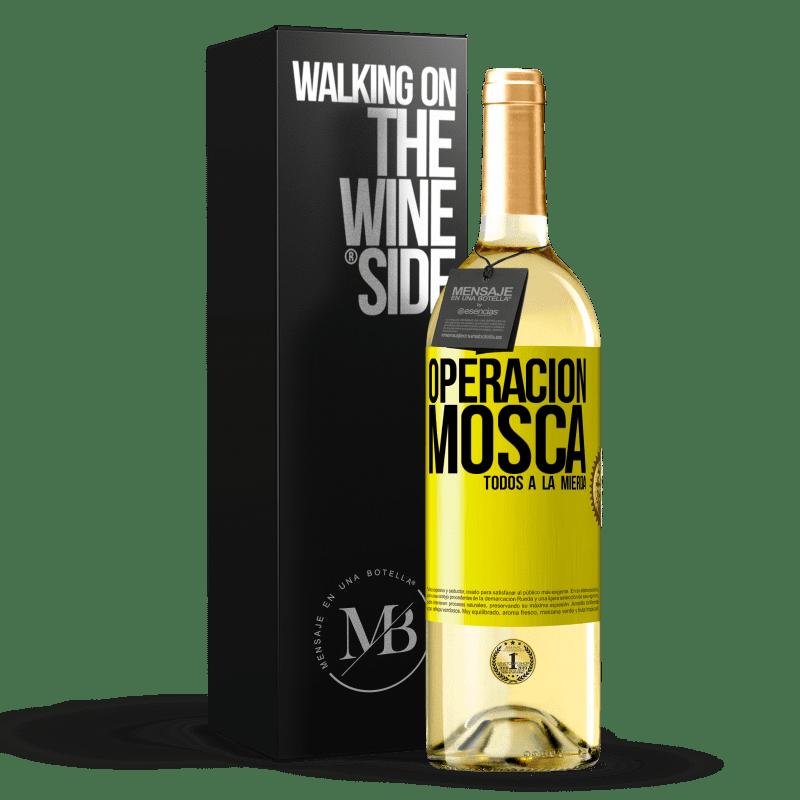 24,95 € Envoi gratuit   Vin blanc Édition WHITE Opération voler ... tout baiser Étiquette Jaune. Étiquette personnalisable Vin jeune Récolte 2020 Verdejo