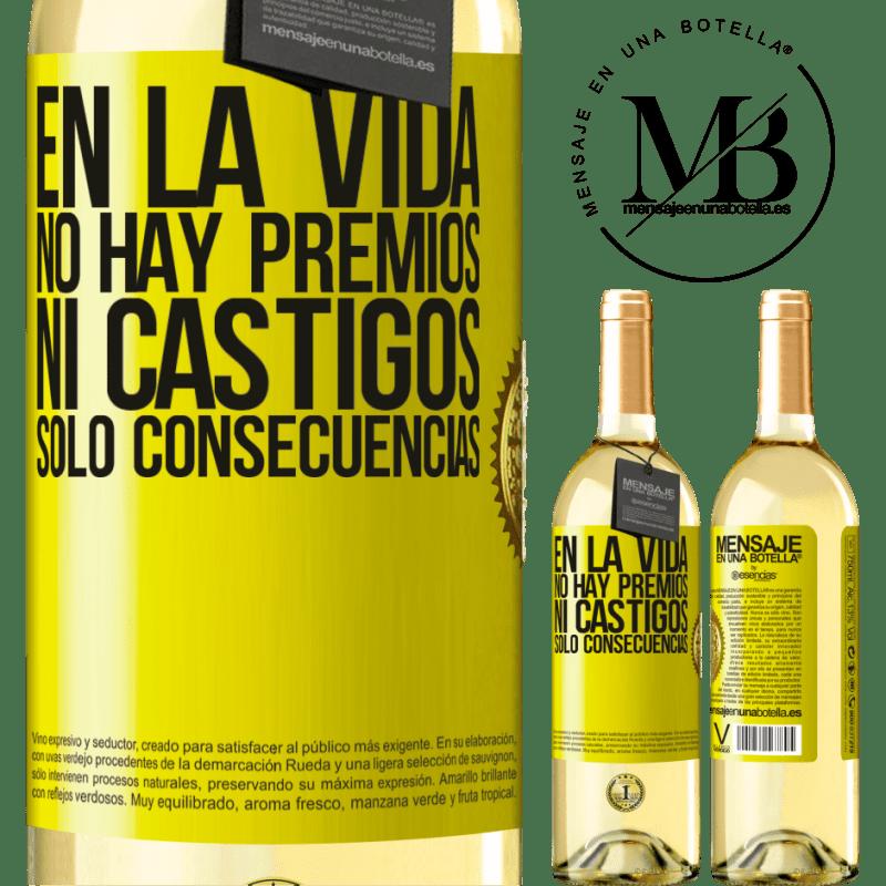 24,95 € Envoi gratuit   Vin blanc Édition WHITE Dans la vie, il n'y a pas de prix ou de punitions. Conséquences uniquement Étiquette Jaune. Étiquette personnalisable Vin jeune Récolte 2020 Verdejo