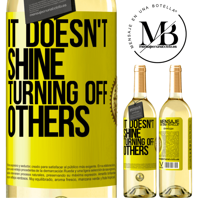 24,95 € Free Shipping   White Wine WHITE Edition It doesn't shine turning off others Yellow Label. Customizable label Young wine Harvest 2020 Verdejo