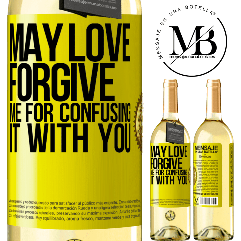 24,95 € Free Shipping | White Wine WHITE Edition May love forgive me for confusing it with you Yellow Label. Customizable label Young wine Harvest 2020 Verdejo