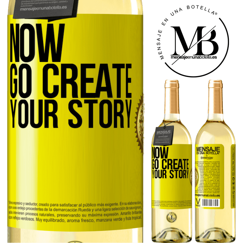 24,95 € Free Shipping   White Wine WHITE Edition Now, go create your story Yellow Label. Customizable label Young wine Harvest 2020 Verdejo