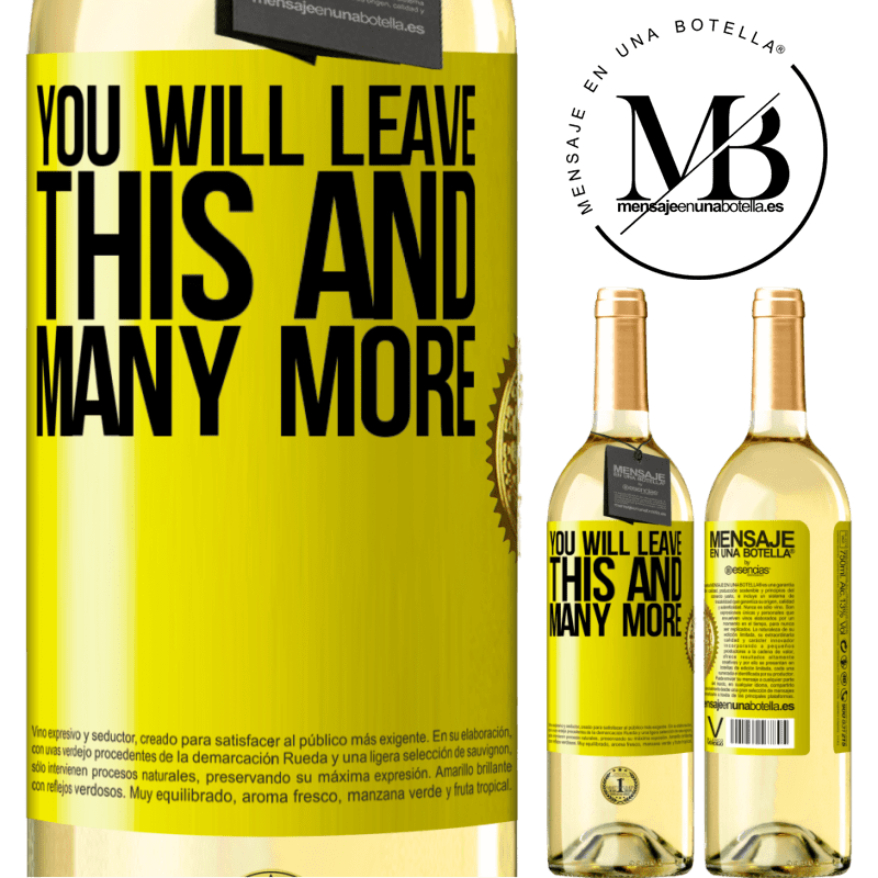 24,95 € Free Shipping   White Wine WHITE Edition You will leave this and many more Yellow Label. Customizable label Young wine Harvest 2020 Verdejo
