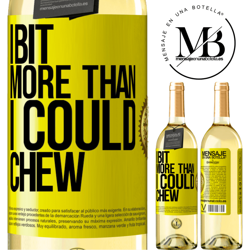 24,95 € Free Shipping | White Wine WHITE Edition I bit more than I could chew Yellow Label. Customizable label Young wine Harvest 2020 Verdejo