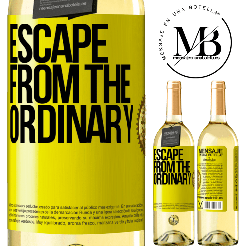 24,95 € Free Shipping | White Wine WHITE Edition Escape from the ordinary Yellow Label. Customizable label Young wine Harvest 2020 Verdejo