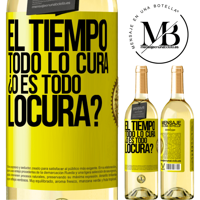 24,95 € Free Shipping | White Wine WHITE Edition El tiempo todo lo cura, ¿o es todo locura? Yellow Label. Customizable label Young wine Harvest 2020 Verdejo