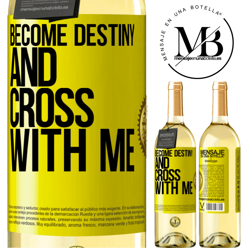 24,95 € Free Shipping | White Wine WHITE Edition Become destiny and cross with me Yellow Label. Customizable label Young wine Harvest 2020 Verdejo