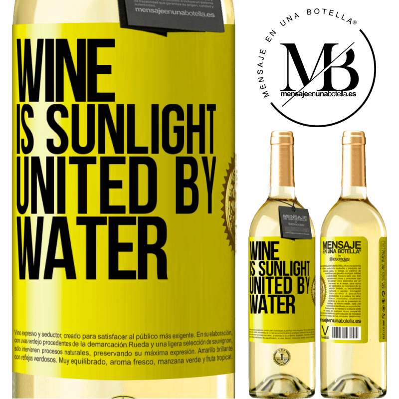 24,95 € Free Shipping | White Wine WHITE Edition Wine is sunlight, united by water Yellow Label. Customizable label Young wine Harvest 2020 Verdejo