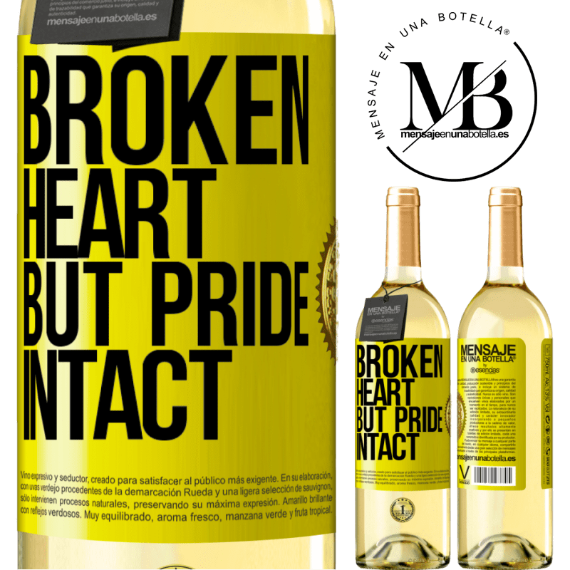 24,95 € Free Shipping   White Wine WHITE Edition The broken heart But pride intact Yellow Label. Customizable label Young wine Harvest 2020 Verdejo