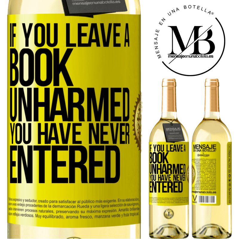 24,95 € Free Shipping | White Wine WHITE Edition If you leave a book unharmed, you have never entered Yellow Label. Customizable label Young wine Harvest 2020 Verdejo