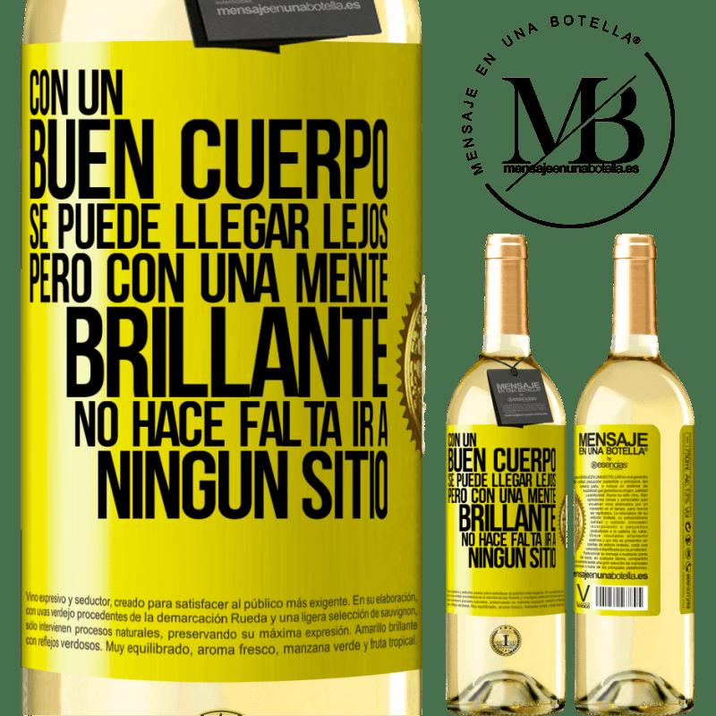 24,95 € Envoi gratuit   Vin blanc Édition WHITE Avec un bon corps, vous pouvez aller loin, mais avec un esprit brillant, vous n'avez pas besoin d'aller nulle part Étiquette Jaune. Étiquette personnalisable Vin jeune Récolte 2020 Verdejo