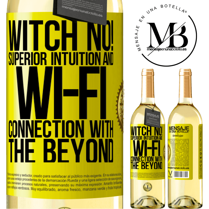 24,95 € Free Shipping   White Wine WHITE Edition witch no! Superior intuition and Wi-Fi connection with the beyond Yellow Label. Customizable label Young wine Harvest 2020 Verdejo