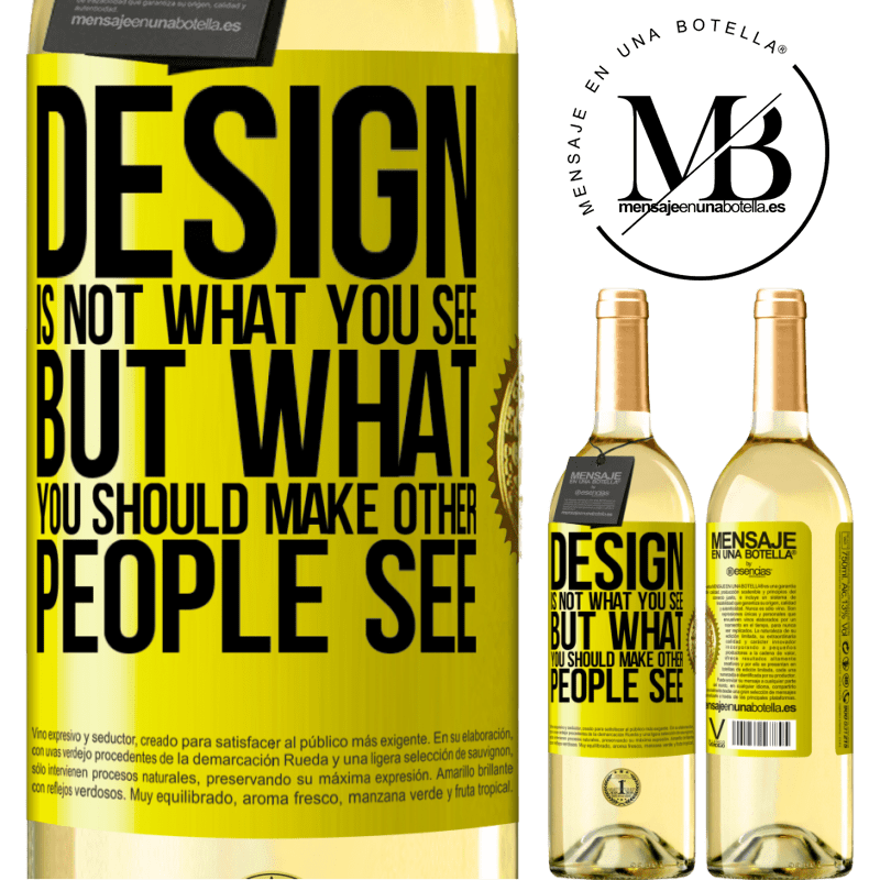 24,95 € Free Shipping | White Wine WHITE Edition Design is not what you see, but what you should make other people see Yellow Label. Customizable label Young wine Harvest 2020 Verdejo