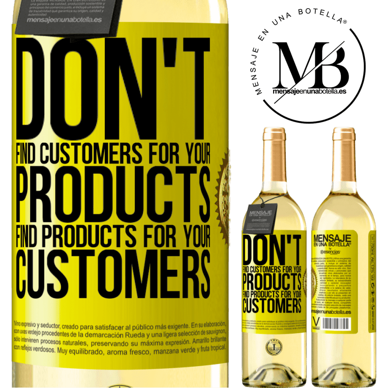 24,95 € Free Shipping   White Wine WHITE Edition Don't find customers for your products, find products for your customers Yellow Label. Customizable label Young wine Harvest 2020 Verdejo
