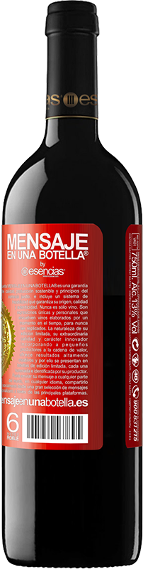 «We know each other? It is not a question, it is a proposal» RED Edition Crianza 6 Months
