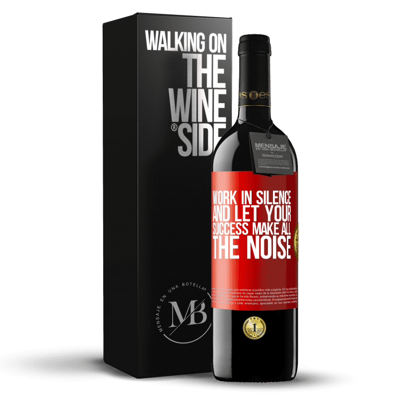 24,95 € Free Shipping   Red Wine RED Edition Crianza 6 Months Work in silence, and let your success make all the noise Red Label. Customizable label Aging in oak barrels 6 Months Harvest 2018 Tempranillo