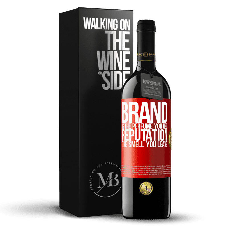 24,95 € Free Shipping   Red Wine RED Edition Crianza 6 Months Brand is the perfume you use. Reputation, the smell you leave Red Label. Customizable label Aging in oak barrels 6 Months Harvest 2018 Tempranillo