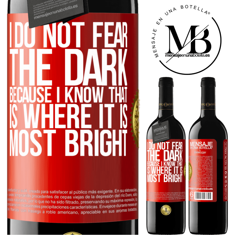 24,95 € Free Shipping | Red Wine RED Edition Crianza 6 Months I do not fear the dark, because I know that is where it is most bright Red Label. Customizable label Aging in oak barrels 6 Months Harvest 2018 Tempranillo
