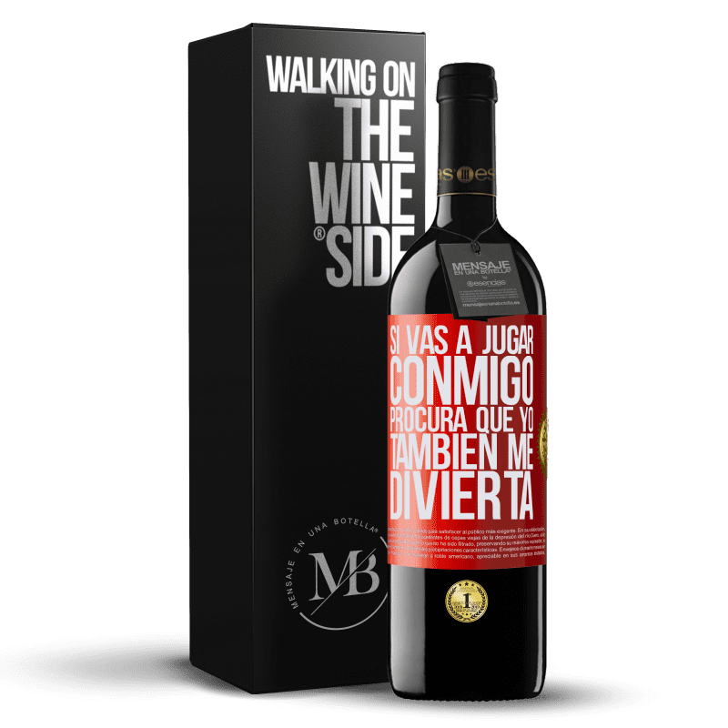 24,95 € Envoi gratuit | Vin rouge Édition RED Crianza 6 Mois Si vous allez jouer avec moi, essayez de vous amuser aussi Étiquette Rouge. Étiquette personnalisable Vieillissement en fûts de chêne 6 Mois Récolte 2018 Tempranillo