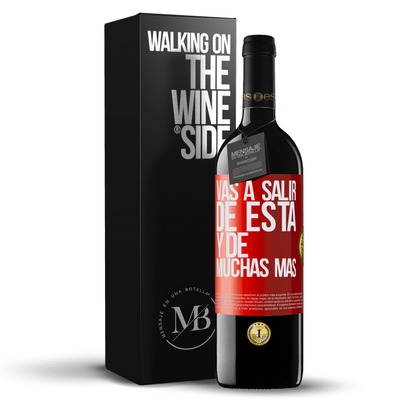24,95 € Envoi gratuit | Vin rouge Édition RED Crianza 6 Mois Vous quitterez cela et bien d'autres Étiquette Rouge. Étiquette personnalisable Vieillissement en fûts de chêne 6 Mois Récolte 2018 Tempranillo