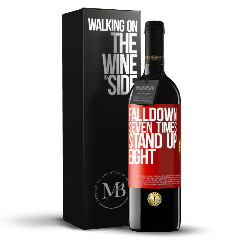 24,95 € Free Shipping | Red Wine RED Edition Crianza 6 Months Falldown seven times. Stand up eight Red Label. Customizable label Aging in oak barrels 6 Months Harvest 2018 Tempranillo