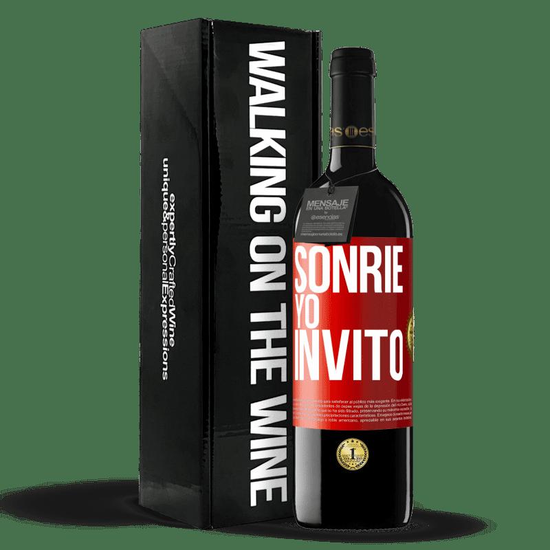 24,95 € Envoi gratuit   Vin rouge Édition RED Crianza 6 Mois Souris, j'invite Étiquette Rouge. Étiquette personnalisable Vieillissement en fûts de chêne 6 Mois Récolte 2018 Tempranillo
