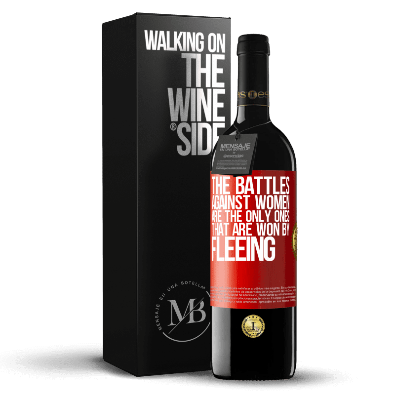 24,95 € Free Shipping | Red Wine RED Edition Crianza 6 Months The battles against women are the only ones that are won by fleeing Red Label. Customizable label Aging in oak barrels 6 Months Harvest 2018 Tempranillo