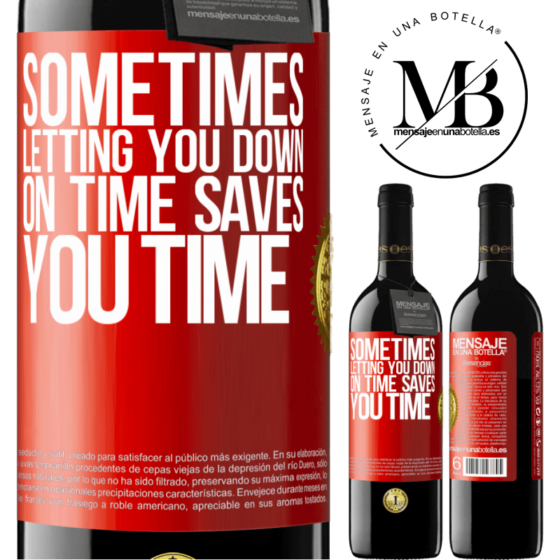 24,95 € Free Shipping | Red Wine RED Edition Crianza 6 Months Sometimes, letting you down on time saves you time Red Label. Customizable label Aging in oak barrels 6 Months Harvest 2018 Tempranillo