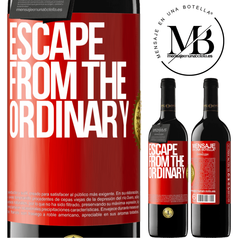 24,95 € Free Shipping   Red Wine RED Edition Crianza 6 Months Escape from the ordinary Red Label. Customizable label Aging in oak barrels 6 Months Harvest 2018 Tempranillo