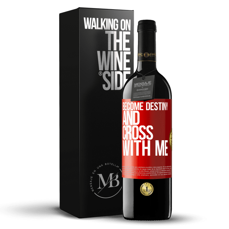 24,95 € Free Shipping | Red Wine RED Edition Crianza 6 Months Become destiny and cross with me Red Label. Customizable label Aging in oak barrels 6 Months Harvest 2018 Tempranillo