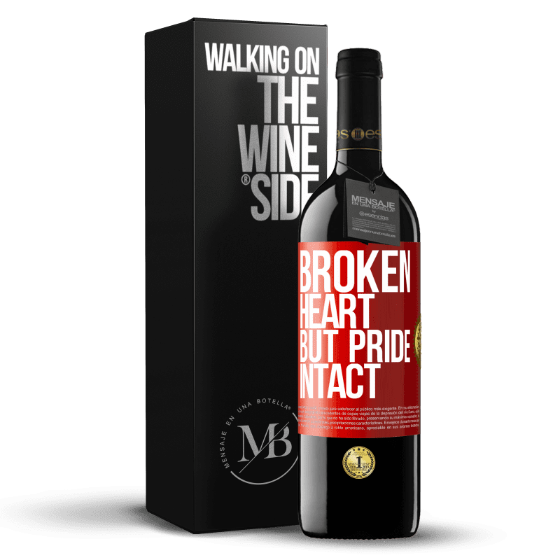 24,95 € Free Shipping | Red Wine RED Edition Crianza 6 Months The broken heart But pride intact Red Label. Customizable label Aging in oak barrels 6 Months Harvest 2018 Tempranillo