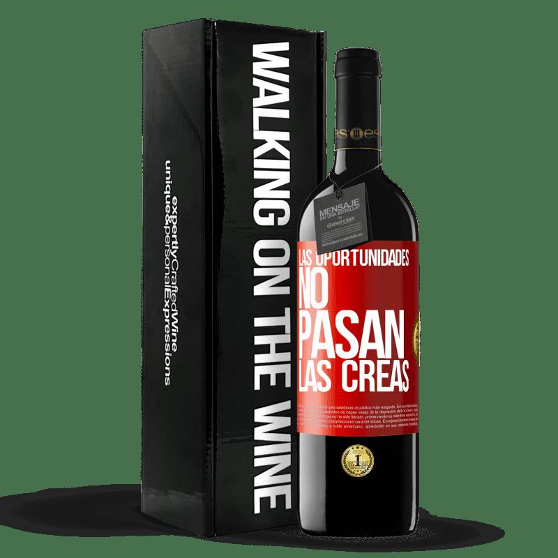 24,95 € Envoi gratuit | Vin rouge Édition RED Crianza 6 Mois Les opportunités ne passent pas. Vous les créez Étiquette Rouge. Étiquette personnalisable Vieillissement en fûts de chêne 6 Mois Récolte 2018 Tempranillo