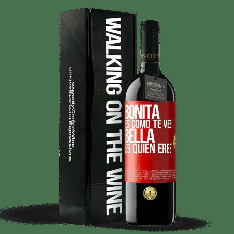 24,95 € Envoi gratuit   Vin rouge Édition RED Crianza 6 Mois C'est joli à quoi tu ressemble, belle est qui tu es Étiquette Rouge. Étiquette personnalisable Vieillissement en fûts de chêne 6 Mois Récolte 2018 Tempranillo