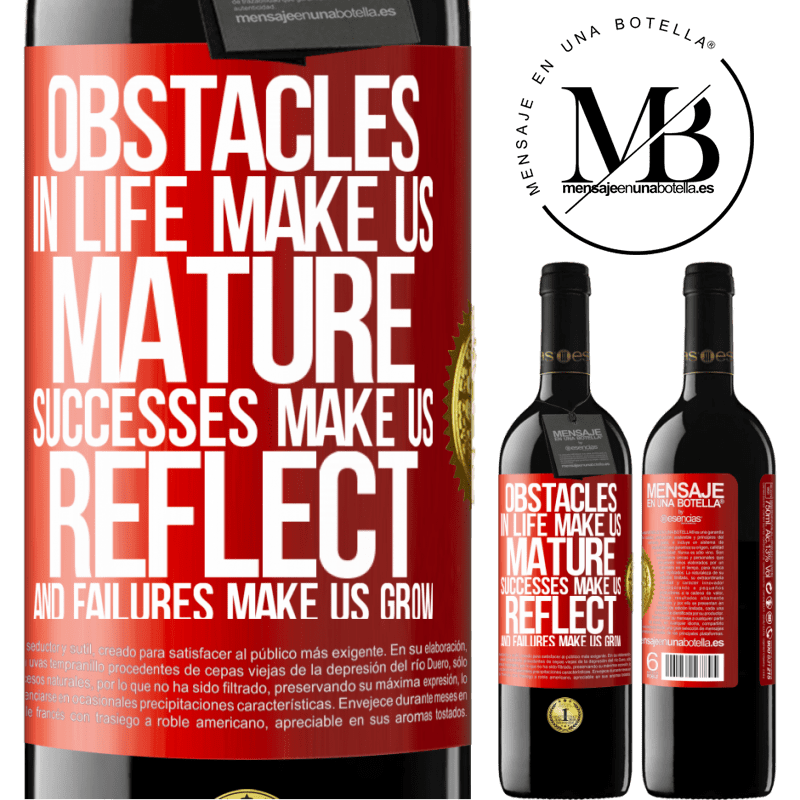 24,95 € Free Shipping   Red Wine RED Edition Crianza 6 Months Obstacles in life make us mature, successes make us reflect, and failures make us grow Red Label. Customizable label Aging in oak barrels 6 Months Harvest 2018 Tempranillo