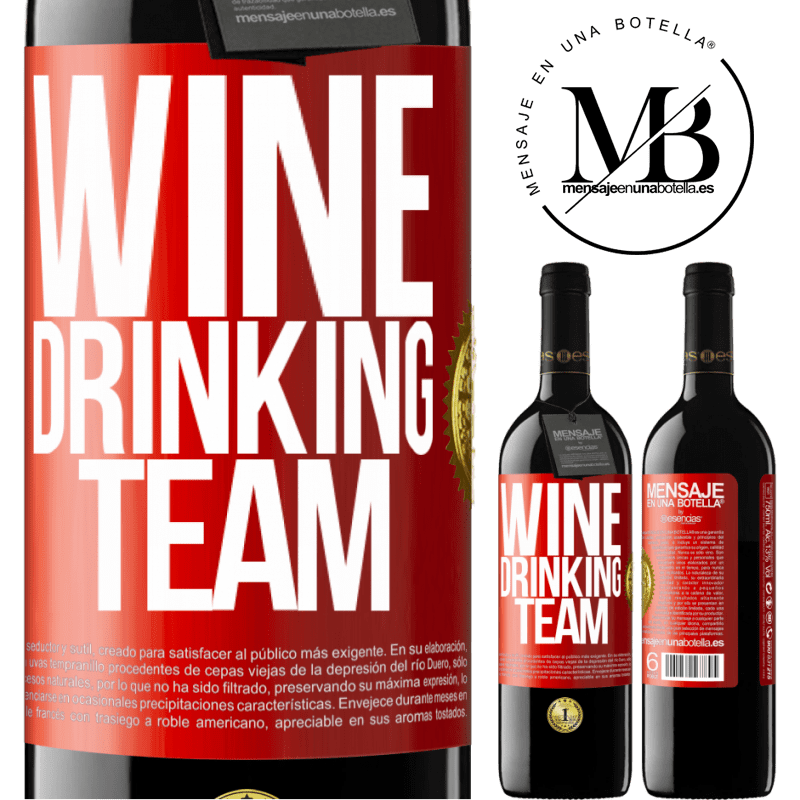 24,95 € Free Shipping | Red Wine RED Edition Crianza 6 Months Wine drinking team Red Label. Customizable label Aging in oak barrels 6 Months Harvest 2018 Tempranillo