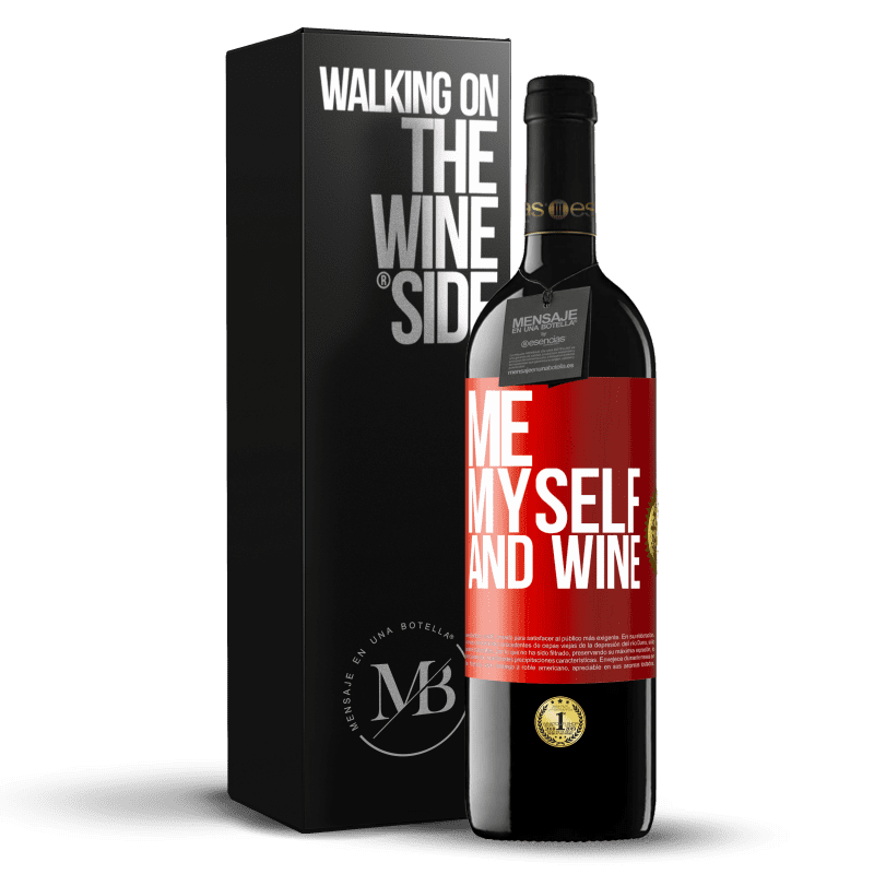 24,95 € Free Shipping | Red Wine RED Edition Crianza 6 Months Me, myself and wine Red Label. Customizable label Aging in oak barrels 6 Months Harvest 2018 Tempranillo