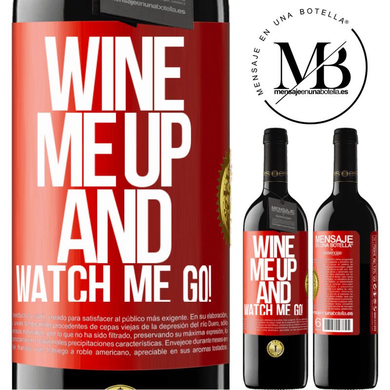 24,95 € Free Shipping | Red Wine RED Edition Crianza 6 Months Wine me up and watch me go! Red Label. Customizable label Aging in oak barrels 6 Months Harvest 2018 Tempranillo