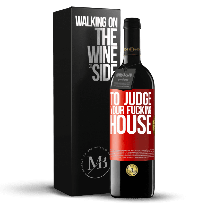 24,95 € Free Shipping | Red Wine RED Edition Crianza 6 Months To judge your fucking house Red Label. Customizable label Aging in oak barrels 6 Months Harvest 2018 Tempranillo