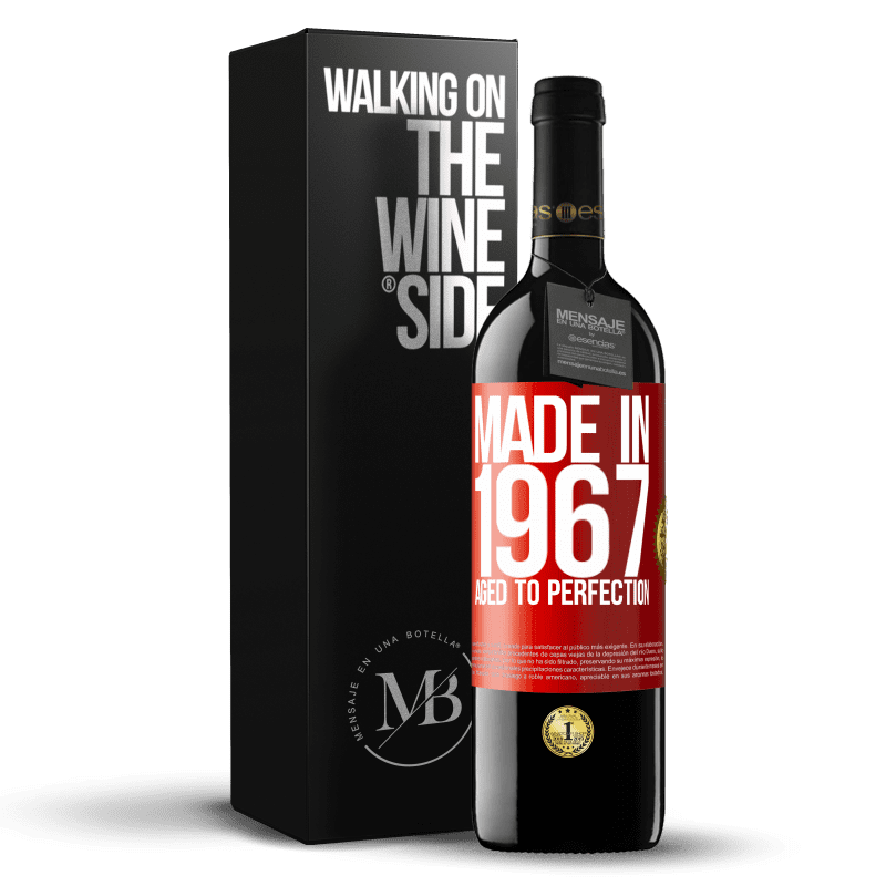 24,95 € Free Shipping | Red Wine RED Edition Crianza 6 Months Made in 1967. Aged to perfection Red Label. Customizable label Aging in oak barrels 6 Months Harvest 2018 Tempranillo