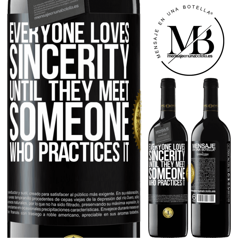 24,95 € Free Shipping | Red Wine RED Edition Crianza 6 Months Everyone loves sincerity. Until they meet someone who practices it Black Label. Customizable label Aging in oak barrels 6 Months Harvest 2018 Tempranillo