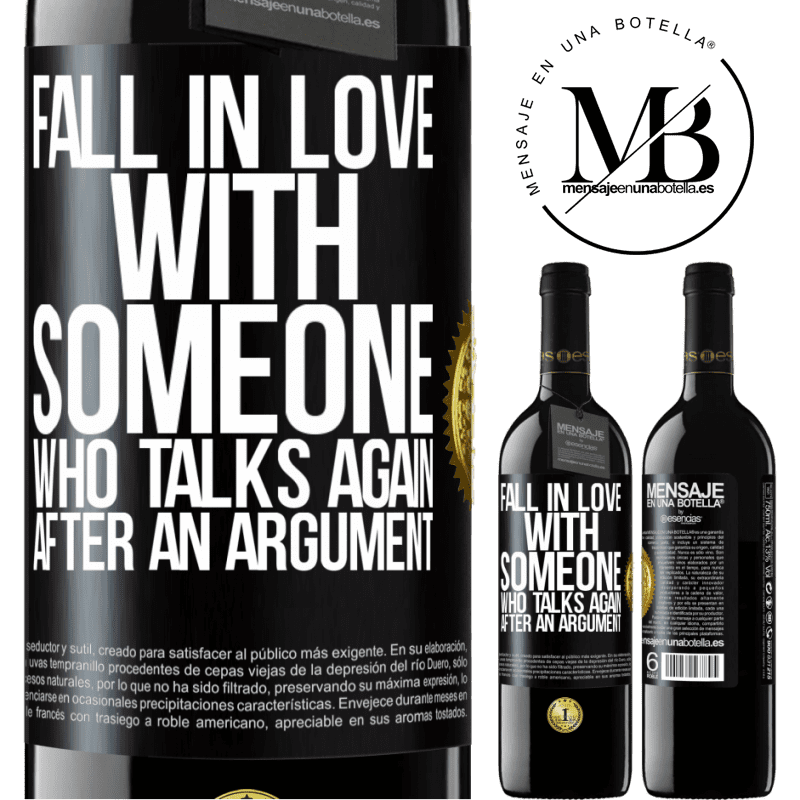24,95 € Free Shipping | Red Wine RED Edition Crianza 6 Months Fall in love with someone who talks again after an argument Black Label. Customizable label Aging in oak barrels 6 Months Harvest 2018 Tempranillo