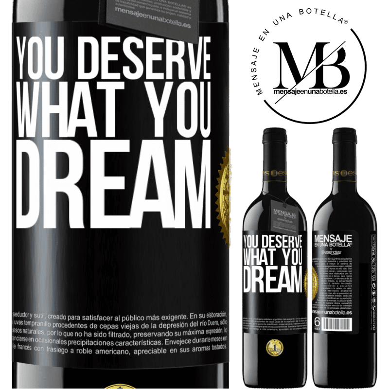 24,95 € Free Shipping | Red Wine RED Edition Crianza 6 Months You deserve what you dream Black Label. Customizable label Aging in oak barrels 6 Months Harvest 2018 Tempranillo