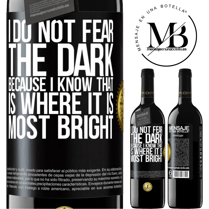 24,95 € Free Shipping | Red Wine RED Edition Crianza 6 Months I do not fear the dark, because I know that is where it is most bright Black Label. Customizable label Aging in oak barrels 6 Months Harvest 2018 Tempranillo