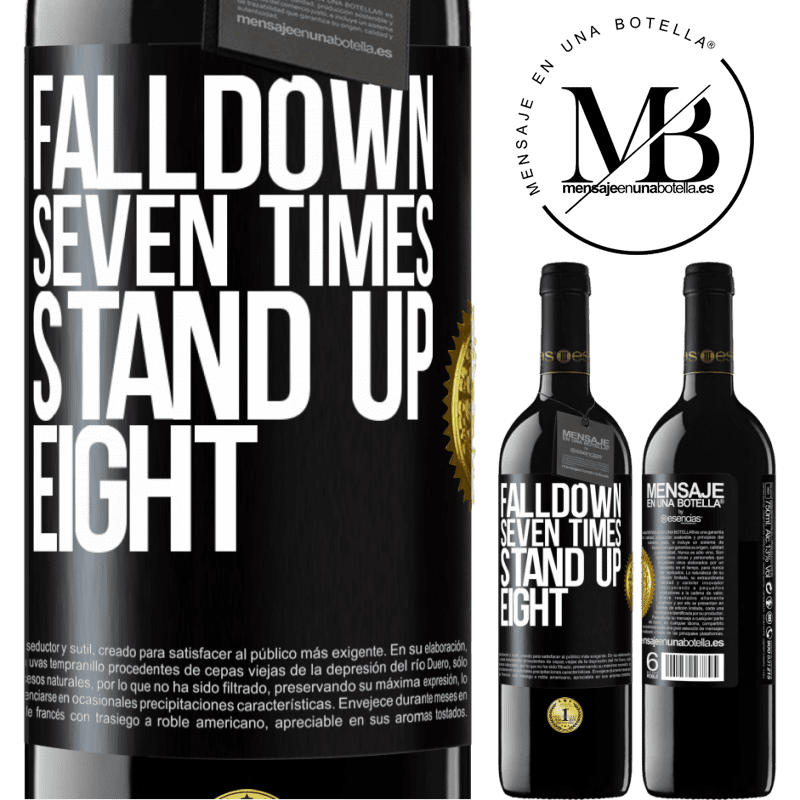 24,95 € Free Shipping | Red Wine RED Edition Crianza 6 Months Falldown seven times. Stand up eight Black Label. Customizable label Aging in oak barrels 6 Months Harvest 2018 Tempranillo