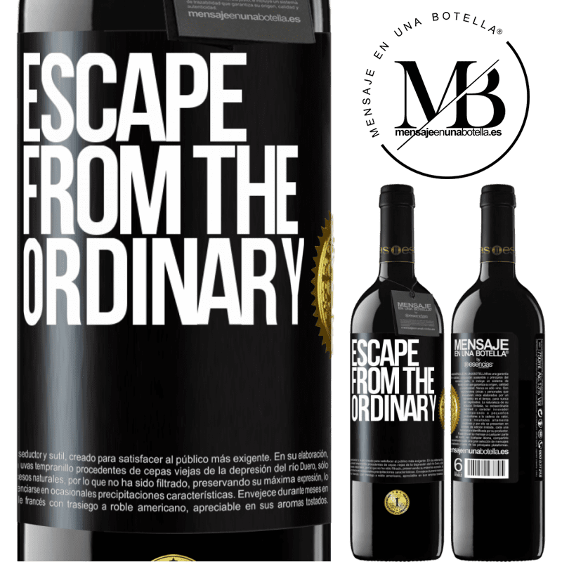 24,95 € Free Shipping | Red Wine RED Edition Crianza 6 Months Escape from the ordinary Black Label. Customizable label Aging in oak barrels 6 Months Harvest 2018 Tempranillo
