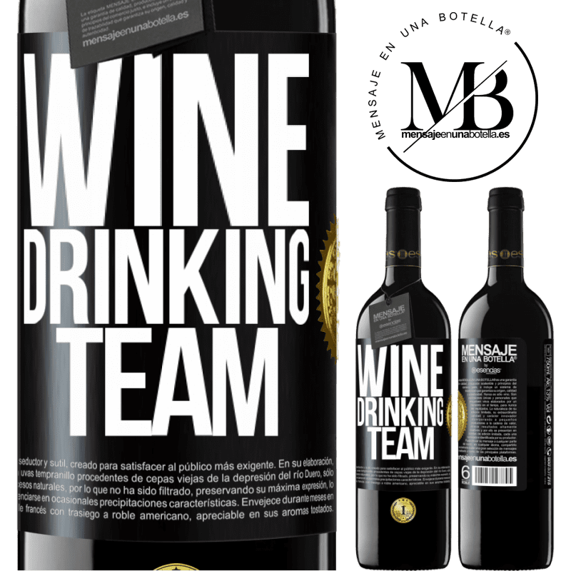 24,95 € Free Shipping | Red Wine RED Edition Crianza 6 Months Wine drinking team Black Label. Customizable label Aging in oak barrels 6 Months Harvest 2018 Tempranillo