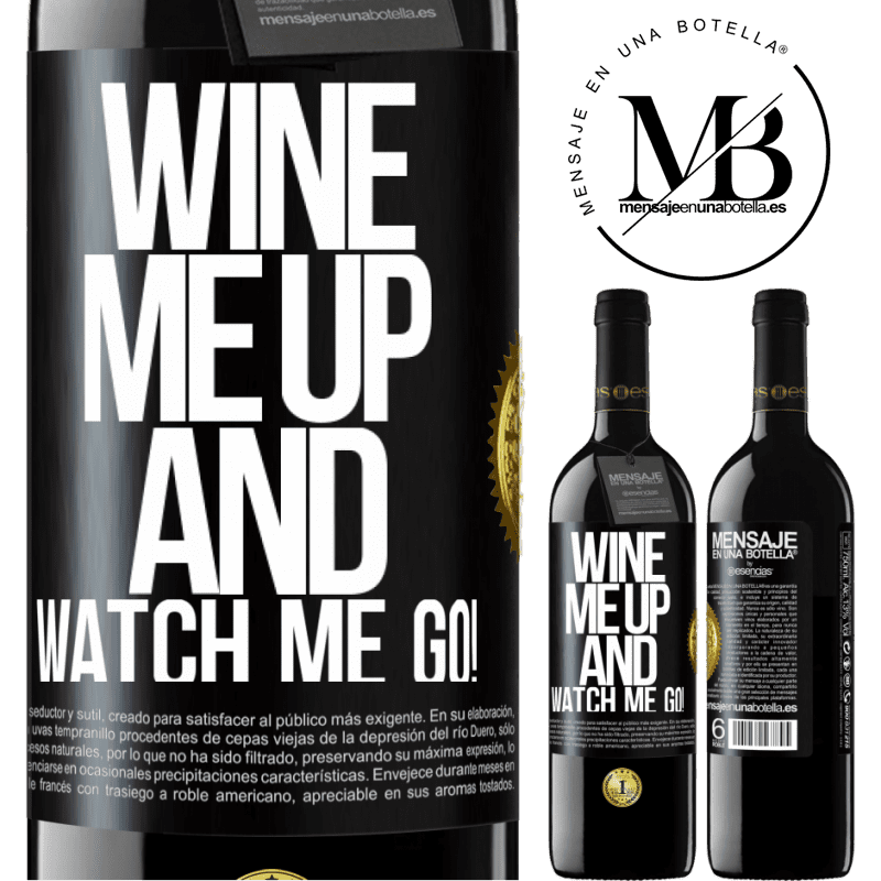 24,95 € Free Shipping | Red Wine RED Edition Crianza 6 Months Wine me up and watch me go! Black Label. Customizable label Aging in oak barrels 6 Months Harvest 2018 Tempranillo