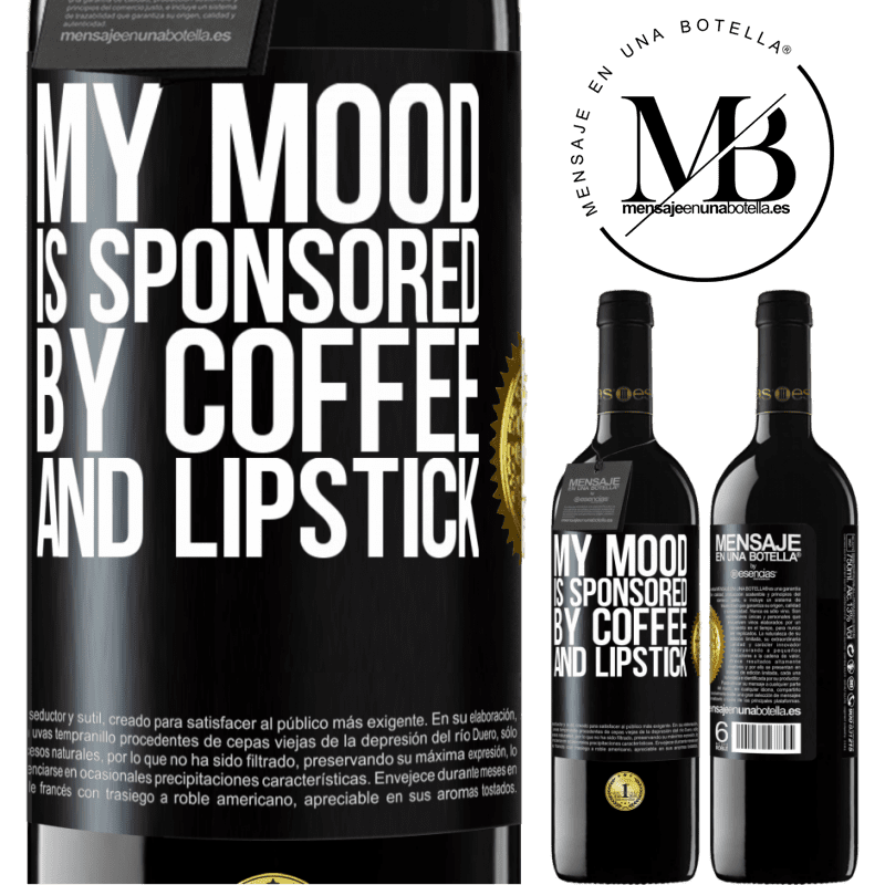 24,95 € Free Shipping | Red Wine RED Edition Crianza 6 Months My mood is sponsored by coffee and lipstick Black Label. Customizable label Aging in oak barrels 6 Months Harvest 2018 Tempranillo